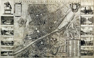 Map of the City of Florence by Wenceslaus Hollar