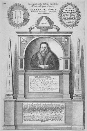 Monument of Alexander Noel in the Old St Paul's Cathedral, City of London, 1656