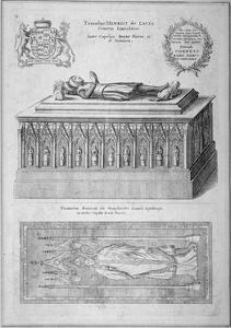 Monument of Henry De Lacy, Earl of Lincoln, in the Old St Paul's Cathedral, City of London, 1656 by Wenceslaus Hollar