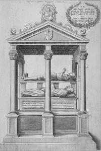 Monument of Sir Nicholas Bacon in Old St Paul's Cathedral, City of London, 1656 by Wenceslaus Hollar