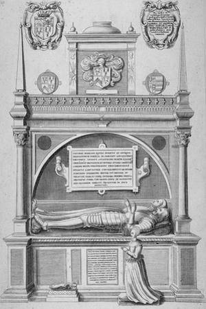 Monument of Sir Paul Heneage in Old St Paul's Cathedral, City of London, 1656