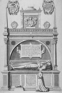 Monument of Sir Paul Heneage in Old St Paul's Cathedral, City of London, 1656 by Wenceslaus Hollar