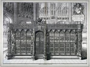 Monument to Henry VII and Queen Elizabeth in the King's Chapel, Westminster Abbey, London, 1665 by Wenceslaus Hollar