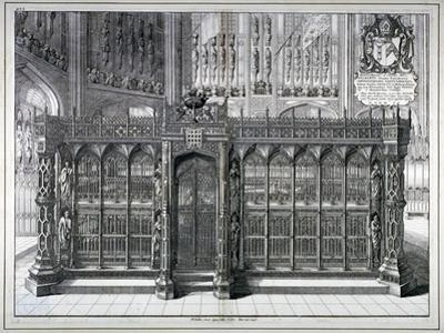 Monument to Henry VII and Queen Elizabeth in the King's Chapel, Westminster Abbey, London, 1665