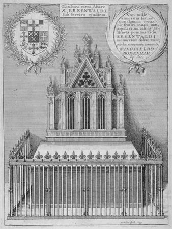 Monument to Saint Erkenwald in Old St Paul's Cathedral, City of London, 1656