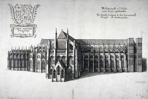 North View of Westminster Abbey, London, 1654 by Wenceslaus Hollar