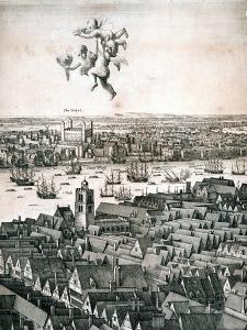 Panoramic View of London, C1670 by Wenceslaus Hollar