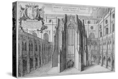 Part of the Side of the Old St Paul's Cathedral, City of London, 1656