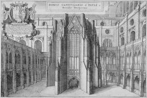 Part of the Side of the Old St Paul's Cathedral, City of London, 1656 by Wenceslaus Hollar