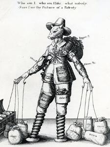 Satirical Print, 1641-1650 by Wenceslaus Hollar