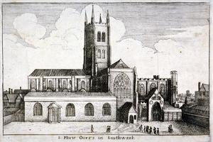 St Mary Overie's Church, Southwark, London, 1647 by Wenceslaus Hollar