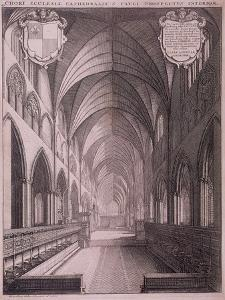 St Paul's Cathedral, London, C1658 by Wenceslaus Hollar