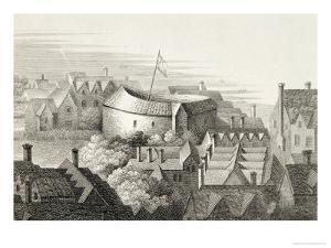 The Globe Theatre, circa 1647, Published by Robert Wilkinson, London, 1810 by Wenceslaus Hollar