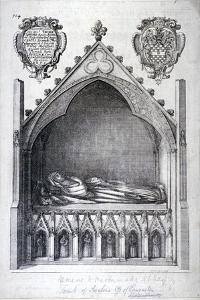 The Tomb of Avaline, Countess of Lancaster, Westminster Abbey, London, 1666 by Wenceslaus Hollar