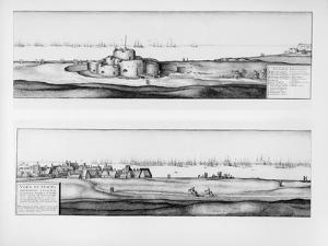 The Town and Castle of Deal, Kent, 1640 by Wenceslaus Hollar