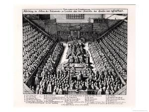 The Trial of the Thomas Wentworth Earl of Strafford in 1641 by Wenceslaus Hollar