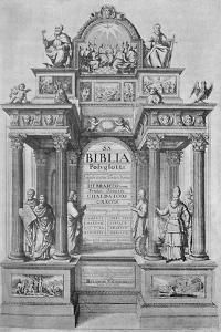 'Title-Page of Walton's Polyglot Bible', 1657, (1904) by Wenceslaus Hollar