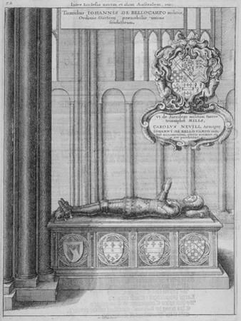 Tomb of John Beauchamp in Old St Paul's Cathedral, City of London, 1656