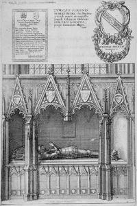 Tomb of Simon Burley in Old St Paul's Cathedral, City of London, 1656 by Wenceslaus Hollar