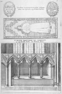 Tomb of Sir Ralph De Hengham in Old St Paul's Cathedral, City of London, 1656 by Wenceslaus Hollar