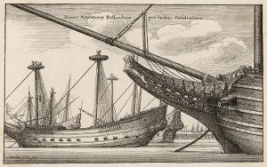Vessels of the Dutch West India Company by Wenceslaus Hollar