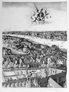 View of London, Published 1647 (Detail) by Wenceslaus Hollar