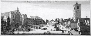 View of New Palace Yard and Westminster Hall, London, 1647 by Wenceslaus Hollar
