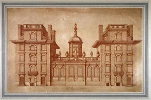 View of St Paul's School, City of London, C1670 by Wenceslaus Hollar