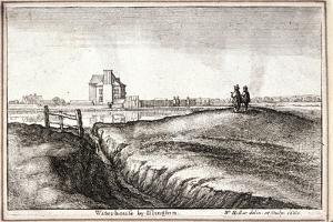 View of the Area around New River Head, Finsbury, London, 1665 by Wenceslaus Hollar