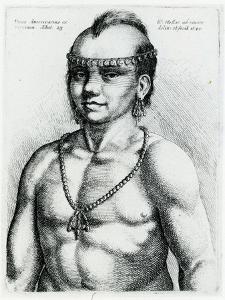 Virginian Indian, 1645 by Wenceslaus Hollar
