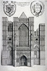 Westminster Abbey, London, C1650 by Wenceslaus Hollar