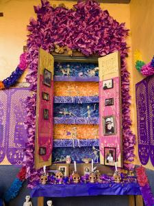 Altar, Day of the Dead, Patzcuaro, Michoacan State, Mexico, North America by Wendy Connett