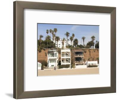 Beach Houses, Santa Monica, Promenade, Los Angeles, California, Usa