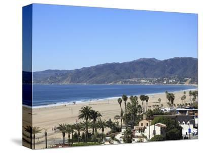 Beach, Santa Monica, Malibu Mountains, Los Angeles, California, Usa