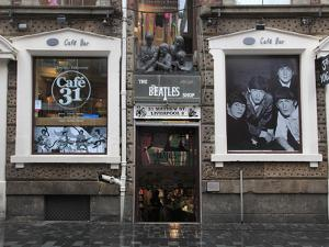 Beatles Shop, Mathew Street, Liverpool, Merseyside, England, United Kingdom, Europe by Wendy Connett