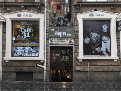 Beatles Shop, Mathew Street, Liverpool, Merseyside, England, United Kingdom, Europe