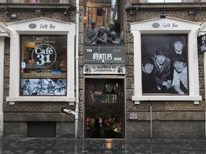 Beatles Shop, Mathew Street, Liverpool, Merseyside, England, United Kingdom, Europe by Wendy Connett