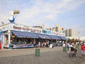 Boardwalk, Coney Island, Brooklyn, New York City, United States of America, North America by Wendy Connett