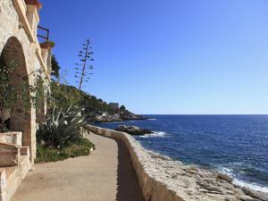 Coastal Path, Cap D'Ail, Cote D'Azur, Provence, French Riviera, Mediterranean, France, Europe by Wendy Connett