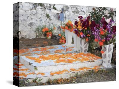 Decorated Graves, Cemetery, Janitzio Island, Day of the Dead, Lake Patzcuaro, Patzcuaro, Michoacan