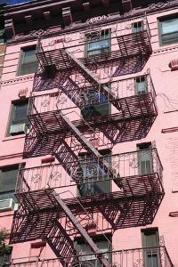 Fire Escape, Soho, Manhattan, New York City, United States of America, North America by Wendy Connett