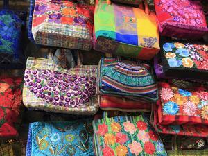 Handmade Bags, Handicraft Market, Oaxaca City, Oaxaca, Mexico, North America by Wendy Connett