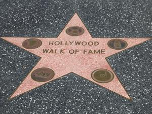 Hollywood Walk of Fame, Hollywood Boulevard, Los Angeles, California by Wendy Connett