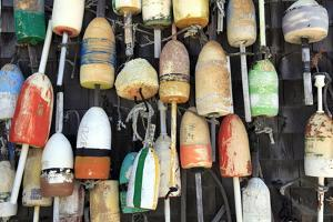 Lobster Buoys, Cape Cod National Seashore, Orleans, Cape Cod, Massachusetts, New England, Usa by Wendy Connett