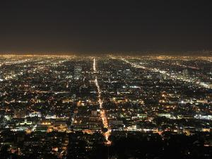 Los Angeles at Night, Los Angeles, California, United States of America, North America by Wendy Connett