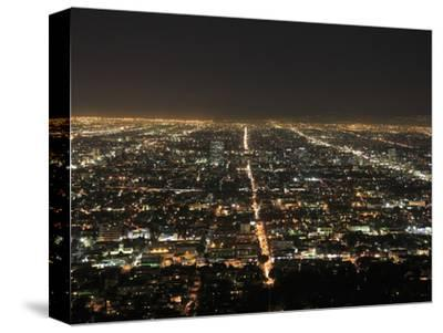 Los Angeles at Night, Los Angeles, California, United States of America, North America