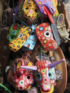 Masks, Handicraft Market, Antigua, Guatemala, Central America by Wendy Connett