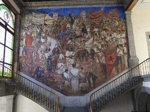 Mural, El Castillo De Chapultepec (Chapultepec Castle), Chapultepec Park, Chapultepec, Mexico City, by Wendy Connett