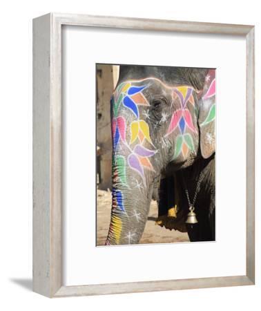 Painted Elephant, Amber Fort Palace, Jaipur, Rajasthan, India, Asia