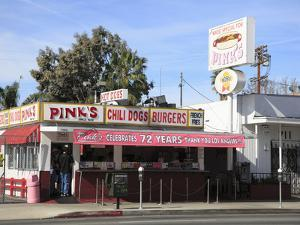 Pinks Hot Dogs, an La Institution, La Brea Boulevard, Hollywood, Los Angeles, California, United St by Wendy Connett